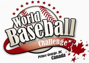 logo for the International Baseball Federation (IBAF) World Baseball Challenge being held in Prince George, British Columbia, Canada July 7 - 18 2011