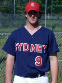 Paul Doucette pitcher and firstbaseman for the Sydney Sooners of the Nova Scotia Senior baseball League