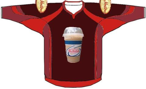 Mock up of phoney St. John's Ice Caps jersey of the AHL