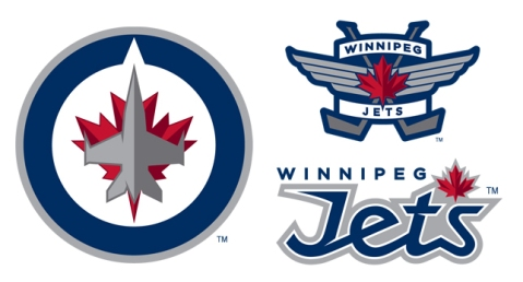 Newly unveiled logos for the new Winnipeg Jets Franchise