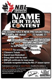 The Prince Edward Island Summerside National Basketball League of Canada Team Contest to name the team