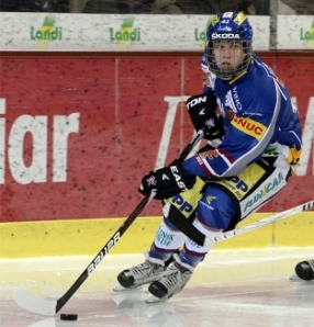 Nikolaj Ehlers plays for HC Biel of the Swiss League