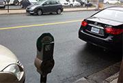 Meter and car behind me.